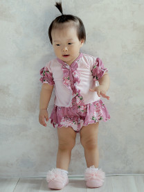 Боди платье, цветы арт. 1431/005/116