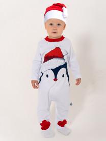Комбинезон Пингвин, белый арт. 1462/001