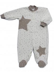 Комбинезон Звезда ( интерлок) молочный арт.1369/022