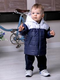 Куртка для мальчика, темно-синяя/белая арт. 1475/012/001