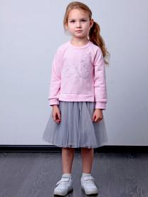Платье Бабочка, розовое арт.1529/005