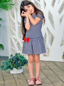 Платье (полоса) синее арт.1426/102/018