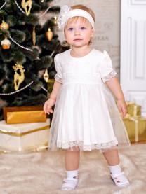Платье с повязкой, молочный арт. 1482/002