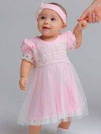 Платье с повязкой, розовый арт. 1482/005