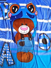 Плед велсофт голубой арт.1385/088