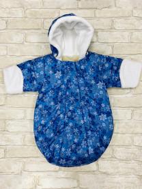 Спальный мешок Снежинки, синий арт.1458/083