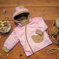 Ветровка Медвежонок розовая (флис) арт. 1283/005