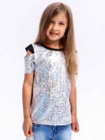 Блуза для девочки, серебро арт. 00289