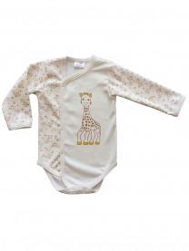 Боди Жираф (интерлок, на кнопках) молочный  арт.1403/049