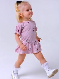 Боди платье, розовое арт. 1437/151