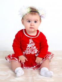 Боди-платье ЕЛОЧКА с фатиновой юбкой арт.1459/018