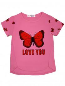 Футболка Бабочка, ярко-розовая  арт. 2431/005