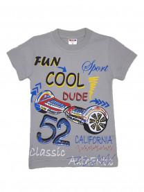 Футболка Fun Cool для мальчика, серая арт. 2431/055