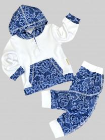 Комплект Цветы, синий арт. 1503/062/001
