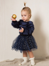 Комплект д/девочки (джемпер,юбка), синий арт. 1939/012