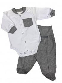 Комплект Денди с карманом, серый арт.1333/055
