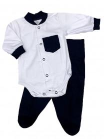 Комплект Денди с карманом, синий арт.1333/012