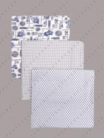 Комплект пеленок из кулира, 3шт. 100х80 см арт. 1054/181