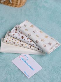 Комплект пеленок из кулира, 4шт. 100х80 см арт. 1043/002