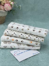 Комплект пеленок из кулира, 4шт. 100х80 см арт. 1043/032