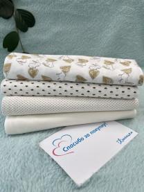 Комплект пеленок из кулира, 4шт. 100х80 см арт. 1043/211