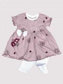 Комплект: платье, леггинсы арт. 1489/151