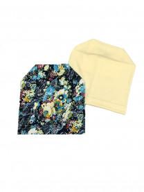 """Комплект шапок """"Цветы"""", желтый  арт. 1371/065"""