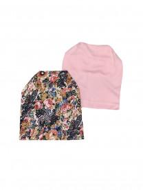 """Комплект шапок """"Цветы"""", розовый  арт. 1371/106"""