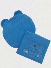 Комплект в коляску Медвежонок, голубой арт. 0051