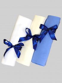 Набор теплых пеленок для мальчика, 3 шт., размер 130*100 см арт. 1336/010