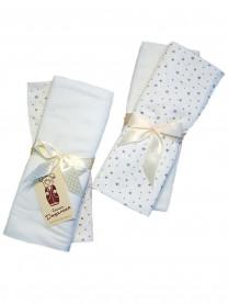 Набор пеленок (футер, кулир) молочный 4 шт., размер 130*100 см арт. 1337/002