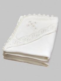 Крестильное полотенце, молочный арт. 0004/002