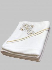 Крестильное полотенце, золото арт. 0004/059