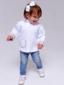 Курточка из капитония, белая арт.1326/001