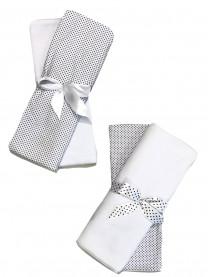 Набор пеленок (футер, кулир), белый 4 шт., размер 130*100 см арт. 1337/001