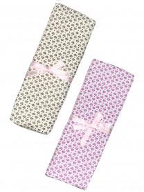 Набор теплых пеленок для девочки, 2 шт., 100х130 см арт. 1088/022/042