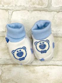 Пинетки для новорожденных,голубые  арт.2014