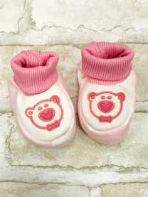 Пинетки для новорожденных, розовые  арт.2014/005