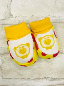 Пинетки для новорожденных, желтые  арт.2014/050