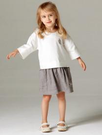 Платье, белый/кофейный арт.1601/001/072
