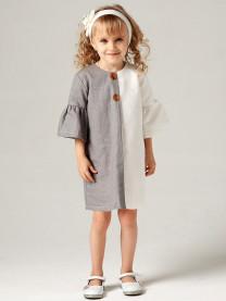 Платье, белый/кофейный арт.1604/001/072