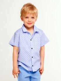 Рубашка для мальчика, клетка арт. 1561/155