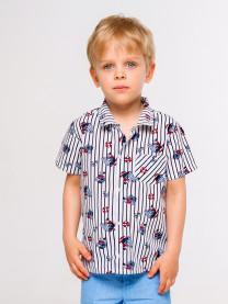 Рубашка для мальчика, полоска арт. 1561/158
