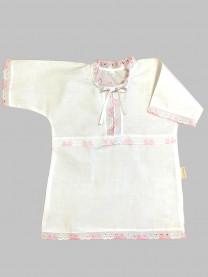 Рубашка крестильная, розовая арт. 0851/005
