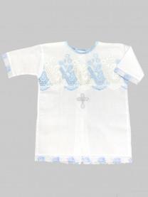 Рубашка крестильная, голубая арт. 1164/010
