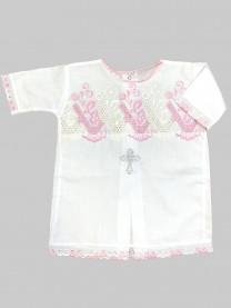Рубашка крестильная, розовая арт.1164/005