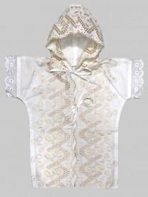 Рубашка крестильная с капюшоном арт. 1115/003