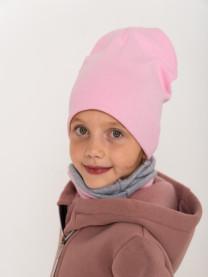 Шапка и снуд, светло-розовый арт. 1573/005