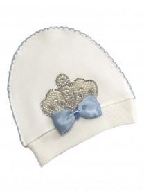 Шапочка Королевская, голубая  арт.00103/010