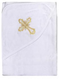 Уголок крестильный с капюшоном, золото арт. 1211/059